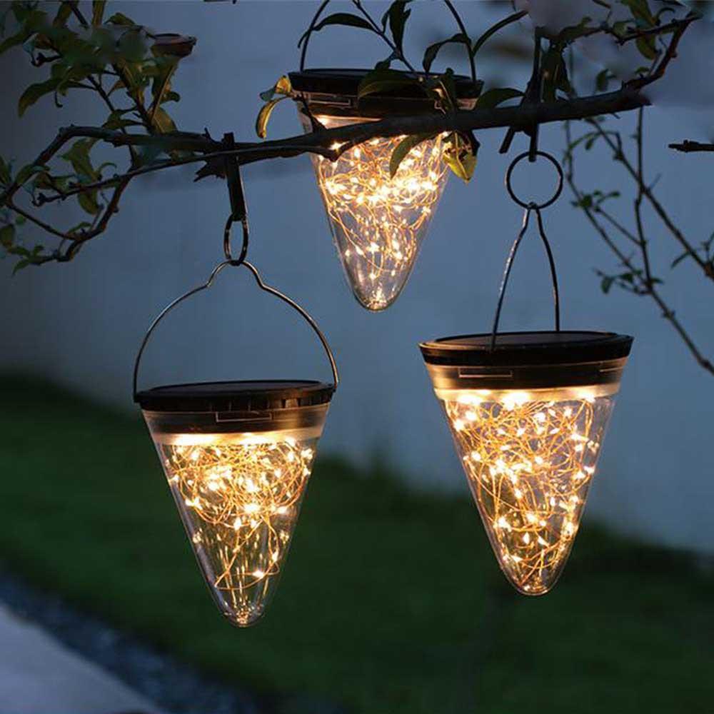 Lanterne solaire jardin LED extérieur