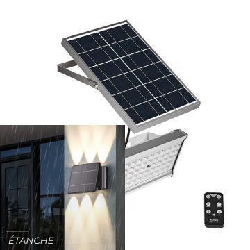 Projecteur LED extérieur solaire avec télécommande