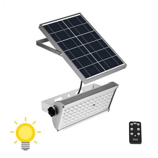 Projecteur LED extérieur solaire déporté avec télécommande