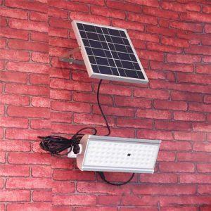 Projecteur LED extérieur solaire avec télécommande jardin