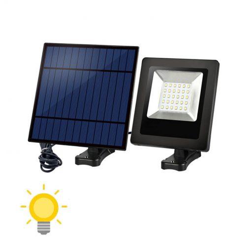 projecteur solaire avec panneau déporté