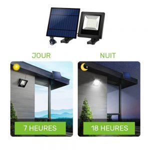 projecteur solaire déporté pas cher