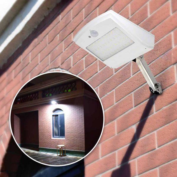 Projecteur solaire extérieur avec télécommande terrasse