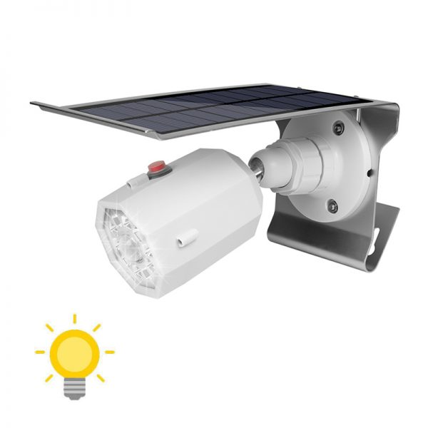 Projecteur solaire extérieur LED avec détecteur de mouvement blanc