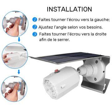 Projecteur solaire extérieur LED avec détecteur de mouvement pas cher