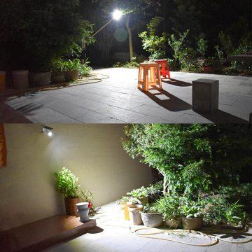 Projecteur solaire extérieur LED avec détecteur de mouvement puissant