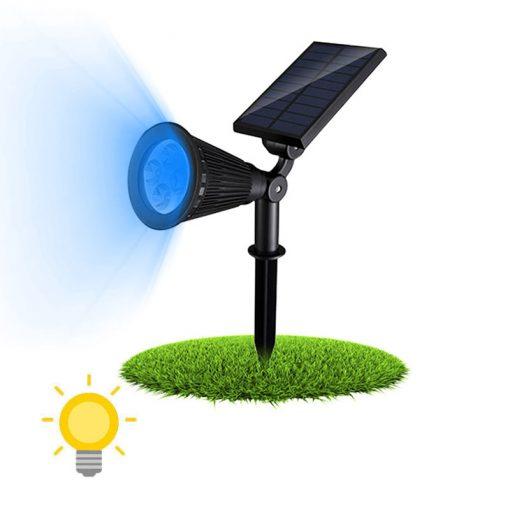 spot solaire bleu