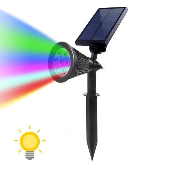Spot solaire couleur changeante