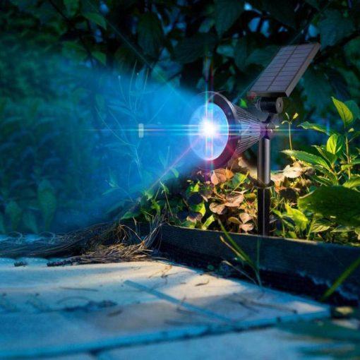 Spot solaire couleur changeante extérieur