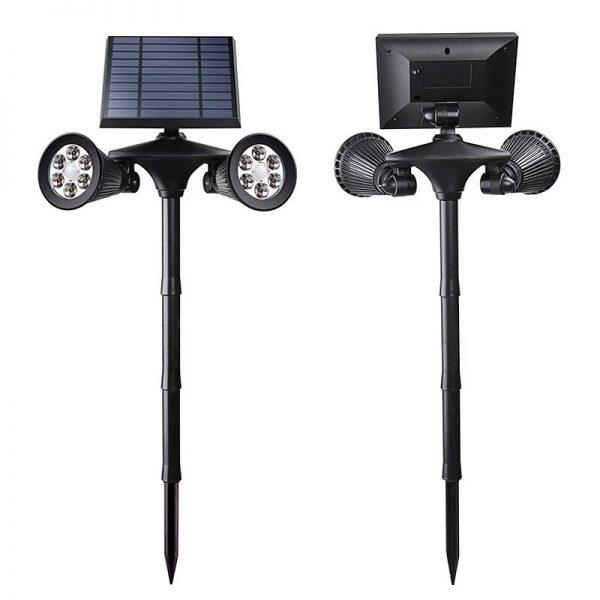 spot solaire double led