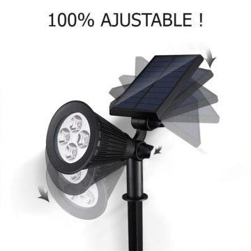 spot solaire lumière chaude puissant