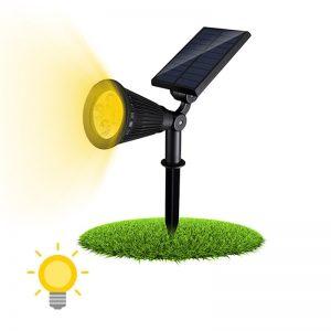 spot solaire lumière chaude