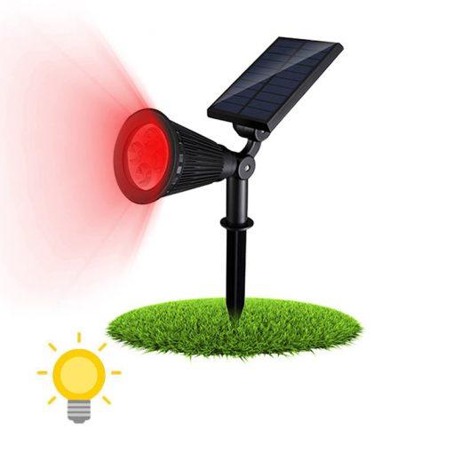 spot solaire rouge
