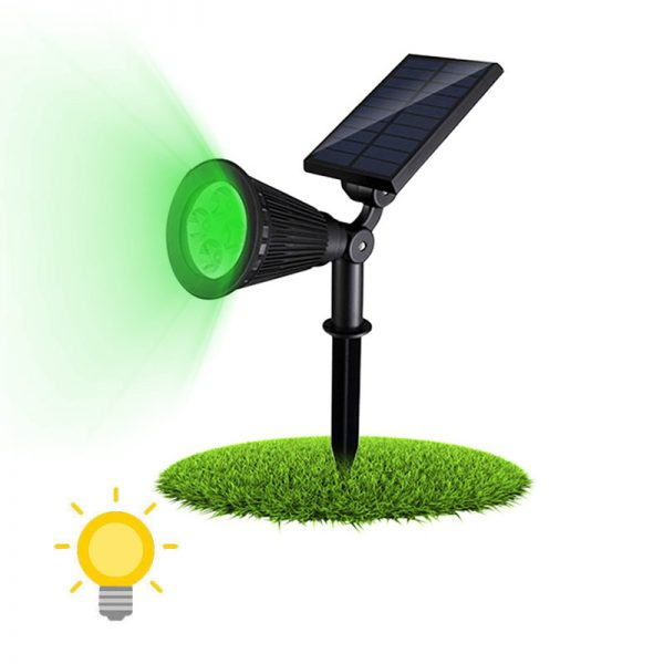 spot solaire vert