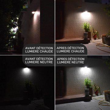 applique extérieur murale led solaire puissante