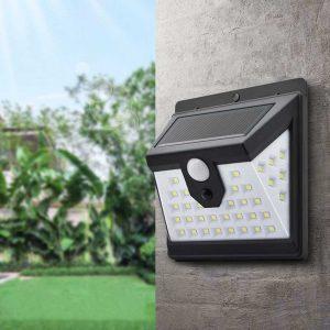 applique murale solaire noire jardin