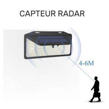 applique radar solaire extérieur