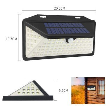applique radar solaire murale
