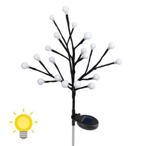 arbre lumineux extérieur solaire