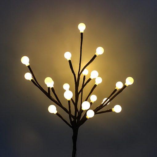 arbre lumineux extérieur solaire blanc chaud
