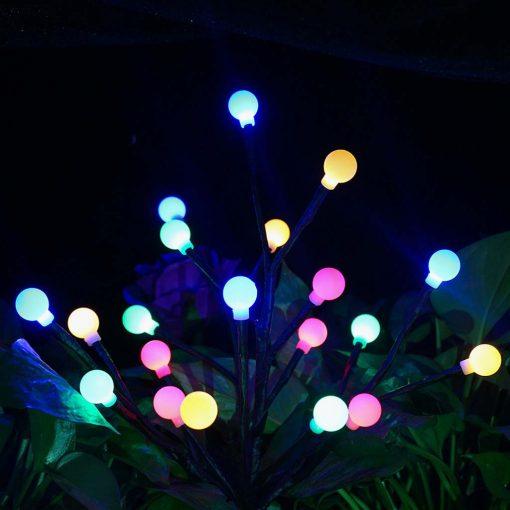 arbre lumineux extérieur solaire jardin