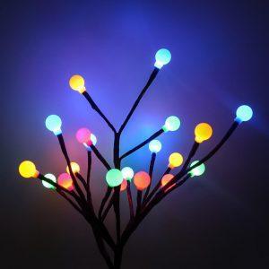 arbre lumineux extérieur solaire multicolore