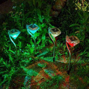 balise solaire couleur changeante jardin