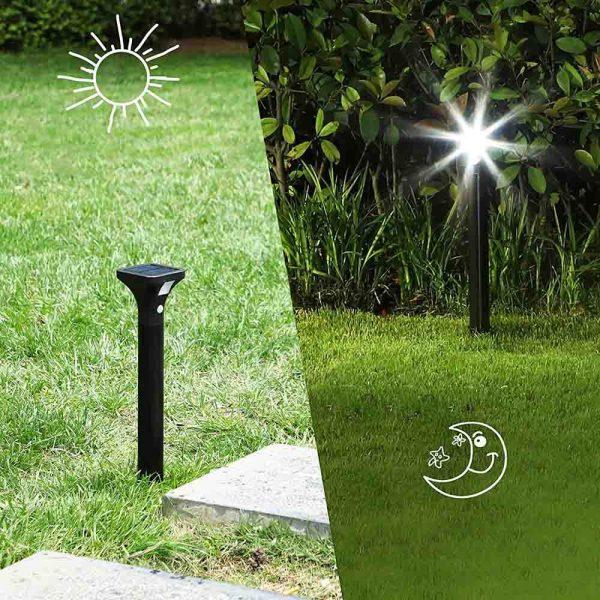 borne solaire allée jardin