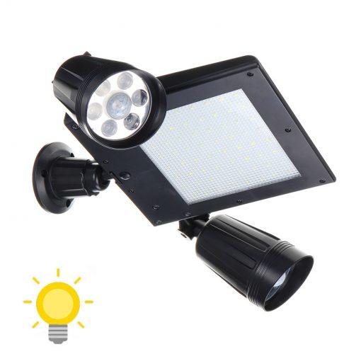double projecteur solaire