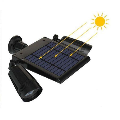double projecteur solaire jardin