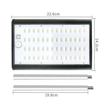 Éclairage extérieur automatique solaire détecteur de mouvement