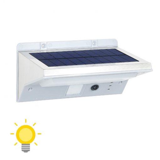 Éclairage extérieur solaire avec détecteur de mouvement puissant