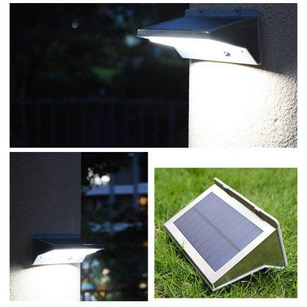 Éclairage extérieur solaire avec détecteur de mouvement puissant led