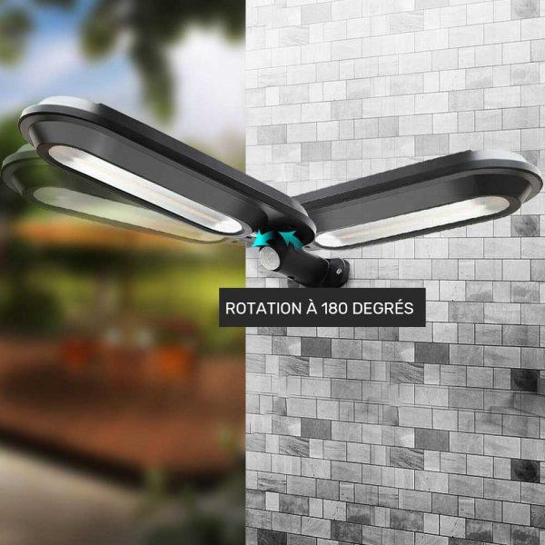éclairage solaire extérieur efficace lampe