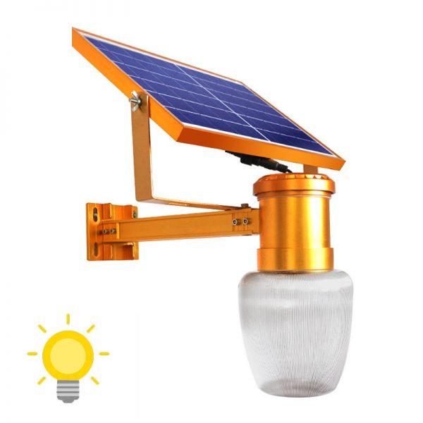 lampadaire solaire mural