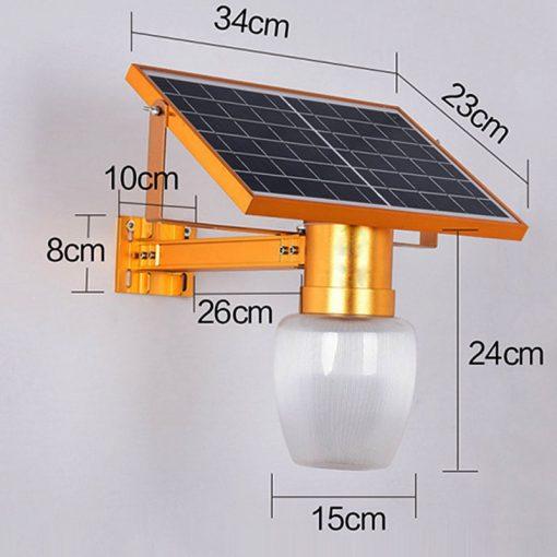 lampadaire solaire mural extérieur