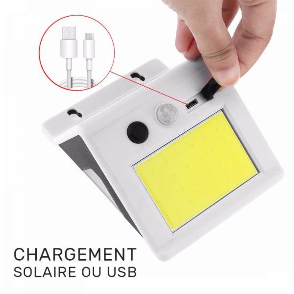 lampe extérieur avec panneau solaire autonome