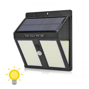 Lampe LED extérieur solaire avec détecteur