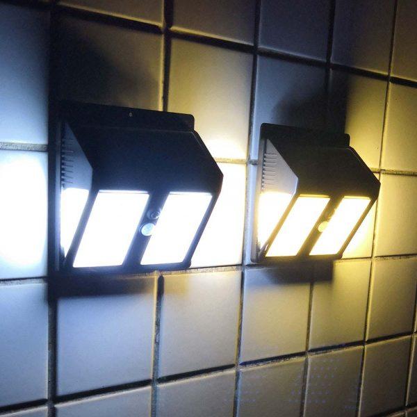 Lampe LED extérieur solaire avec détecteur de mouvement