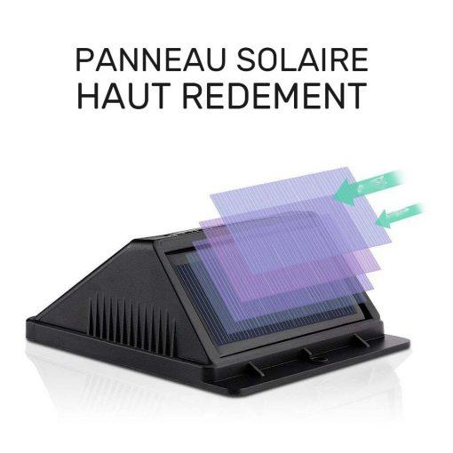 Lampe LED extérieur solaire avec détecteur jardin