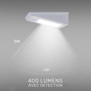 Lampe solaire 400 lumens extérieur