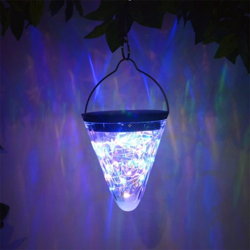 lampe solaire cone couleur changeante