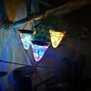 lampe solaire cone extérieur