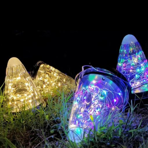 lampe solaire cône jardin