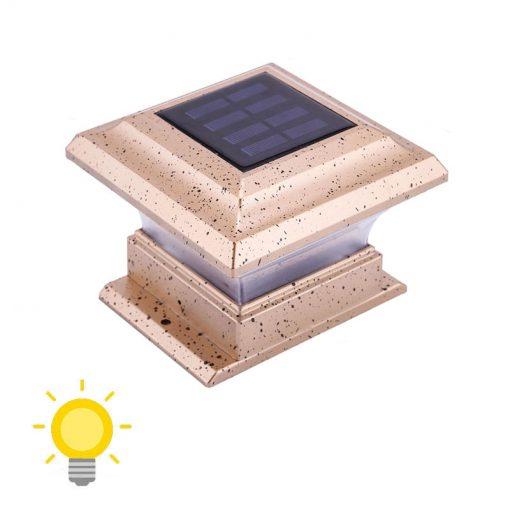 lampe solaire de pilier