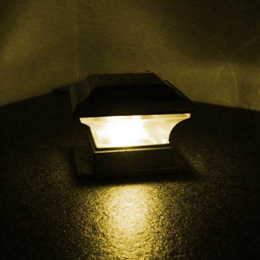 lampe solaire de pilier pas cher