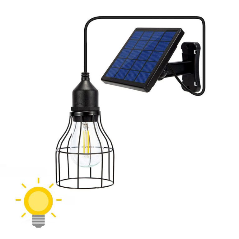 lampe solaire déportée pour cabane de jardin