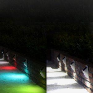 Lampe solaire avec détecteur de mouvement double extérieur