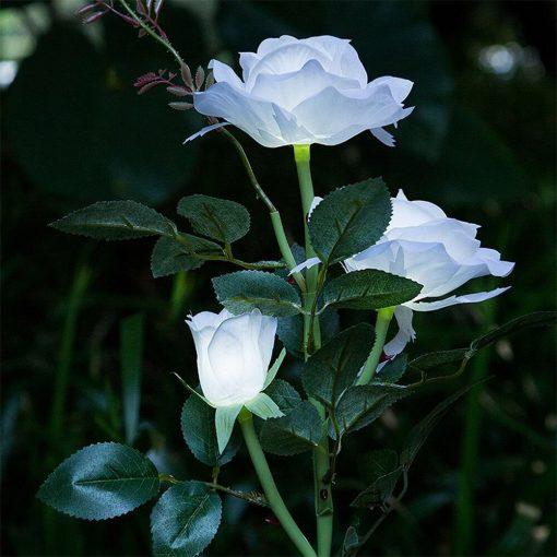 lampe solaire fleur jardin extérieur
