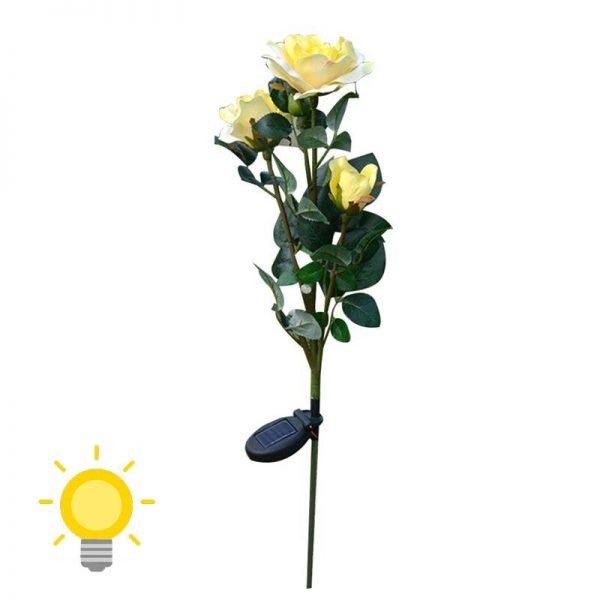 lampe solaire fleur jardin jaune